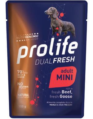 Cane - Dual Fresh Adult Mini Manzo e Oca 100 gr Prolife