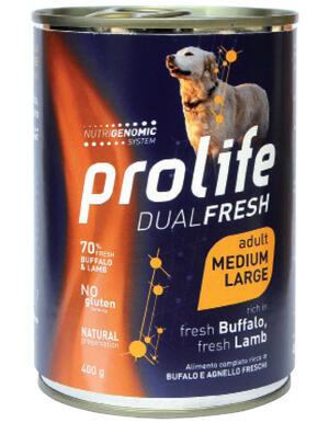 Cane - Dual Fresh Adult Medium Large Bufalo e Agnello 400 gr Prolife