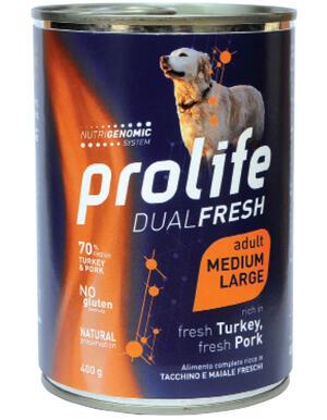 Cane - Dual Fresh Adult Medium Large Tacchino e Maiale 400 gr Prolife