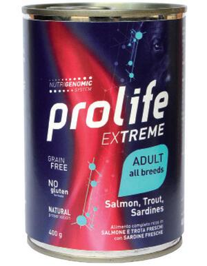Cane - Extreme Adult Salmone, Trota e Sardine 400 gr Prolife