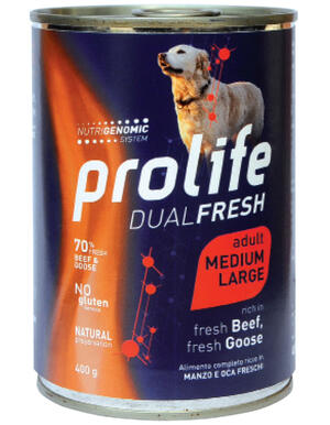 Cane - Dual Fresh Adult Medium Large Manzo e Oca 400 gr Prolife