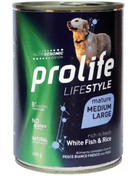 Cane -  Life Style Mature Large Con Pesce e Riso 400 gr Prolife