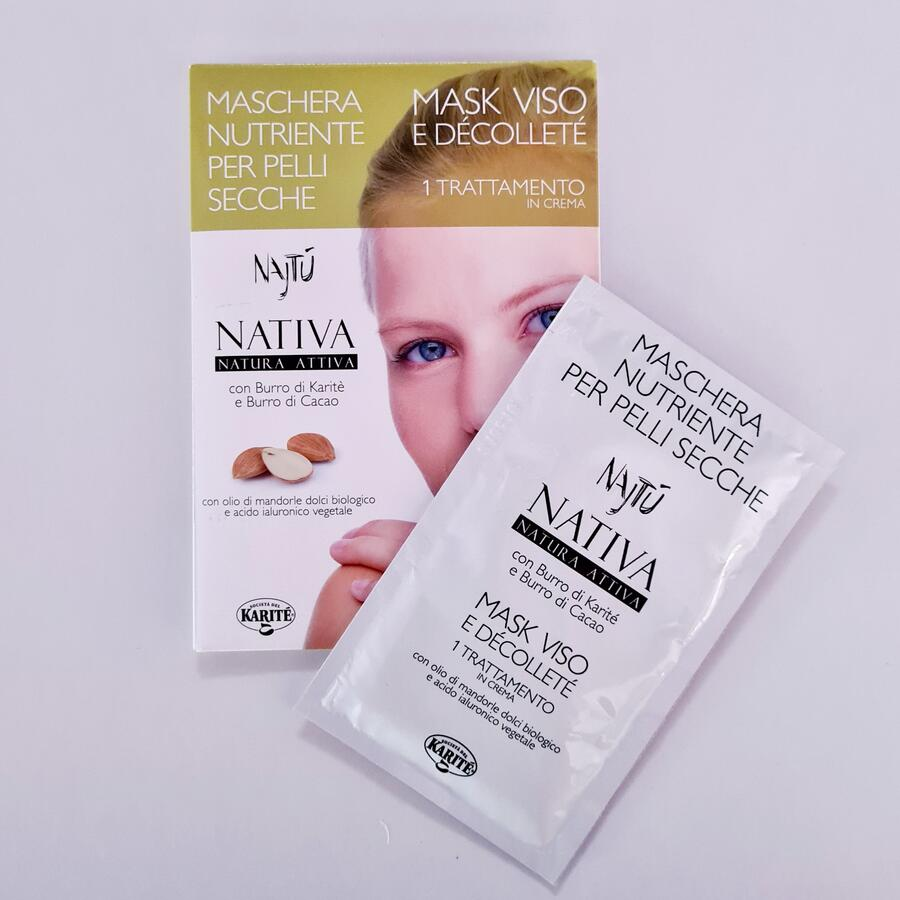 Maschera viso nutriente per pelli secche