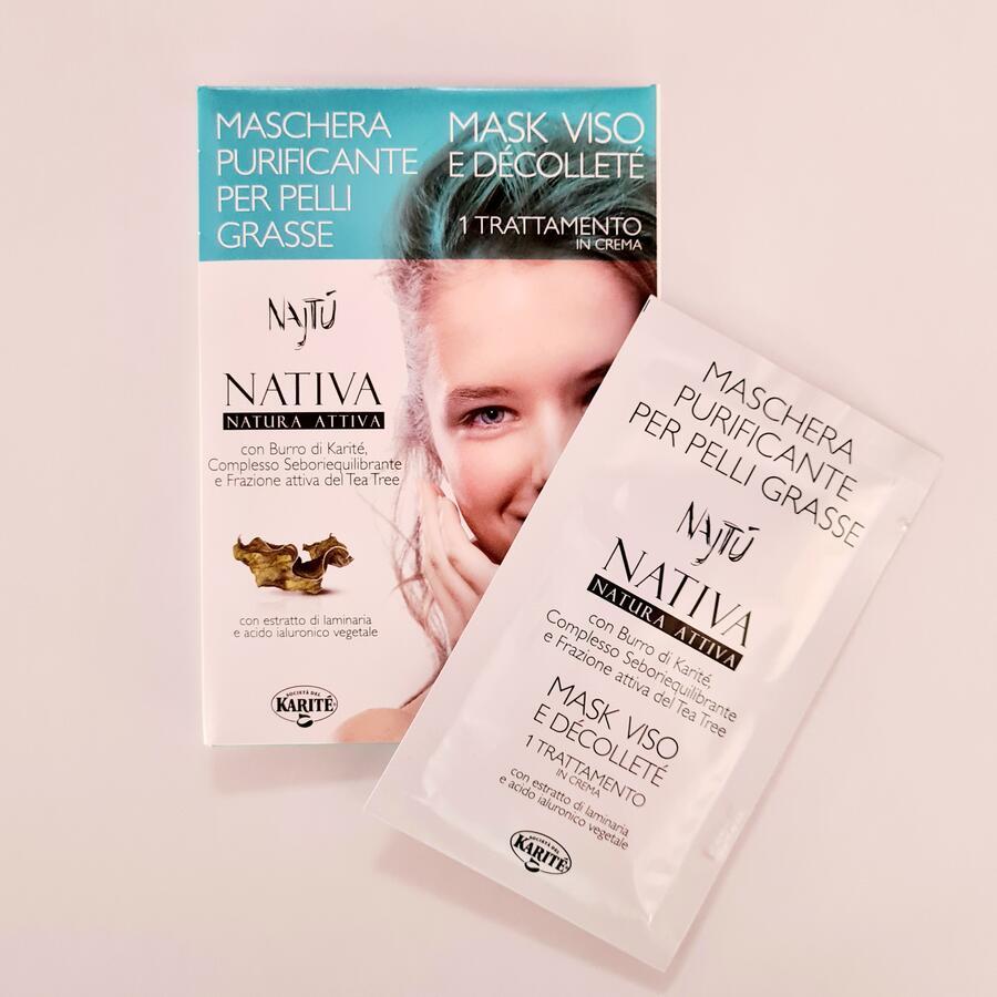 Maschera viso purificante per pelli grasse