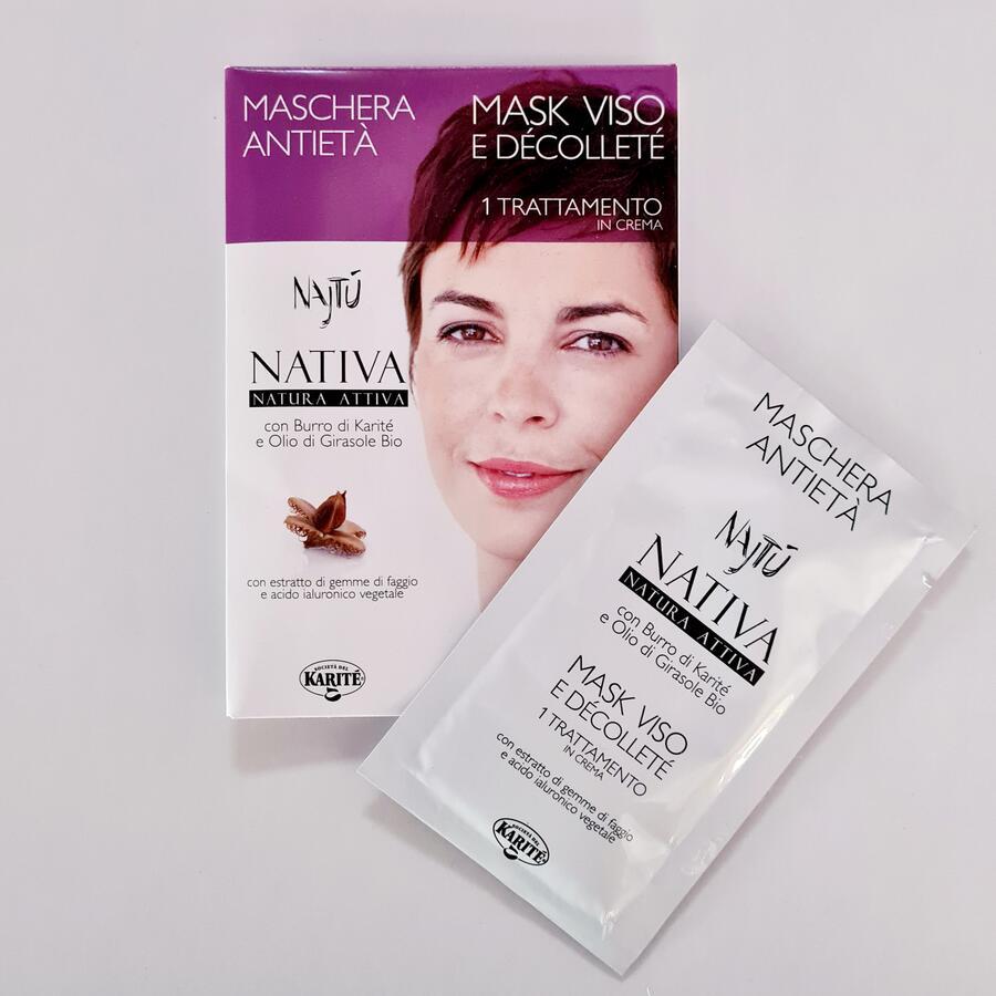 Maschera viso anti-età per pelli mature