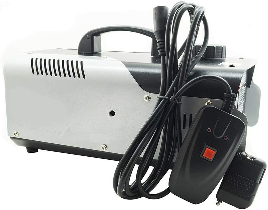 Macchina Fumo 1200W 6 LED RGB Effetto Nebbia Telecomando Staffa Discoteca SM 1200