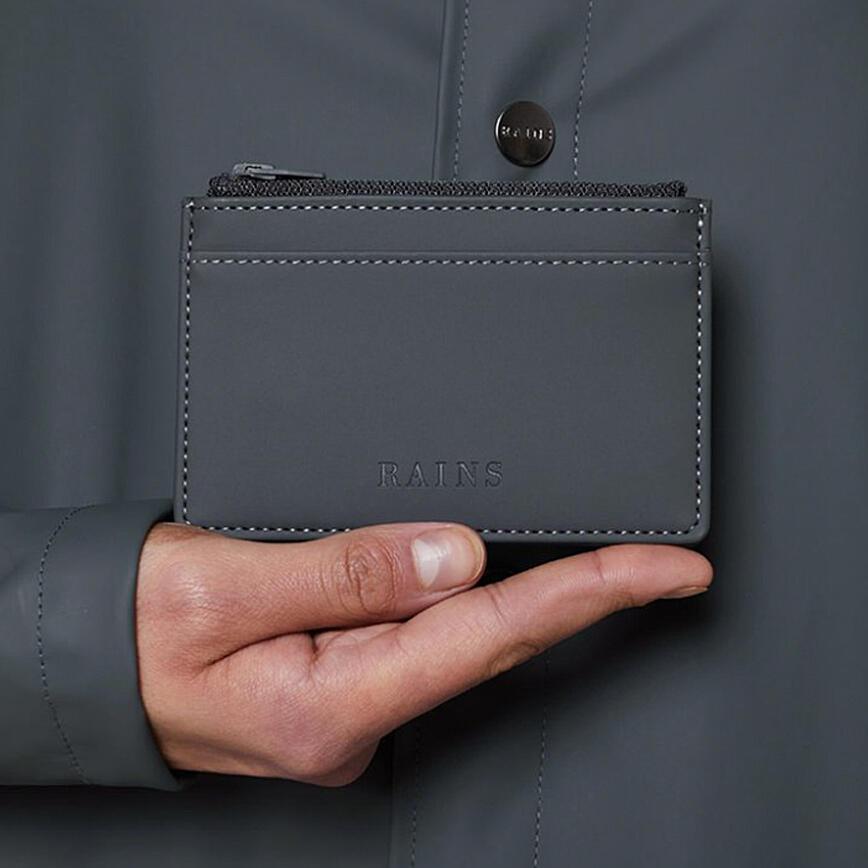 Rains Zip Wallet - Slate