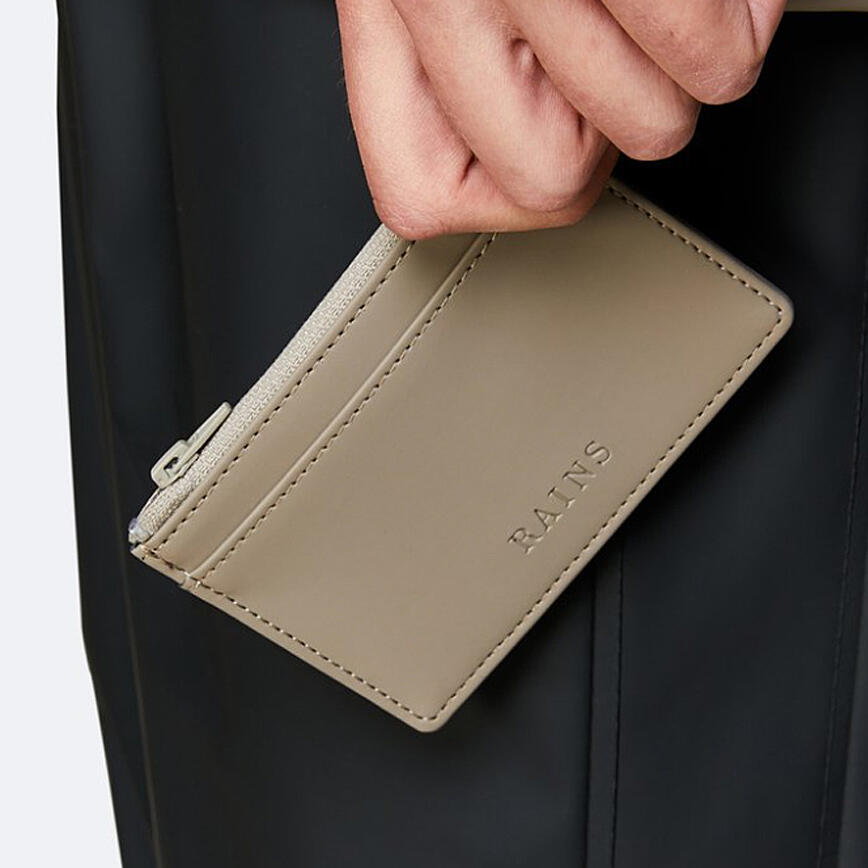 ains Zip Wallet - Taupe