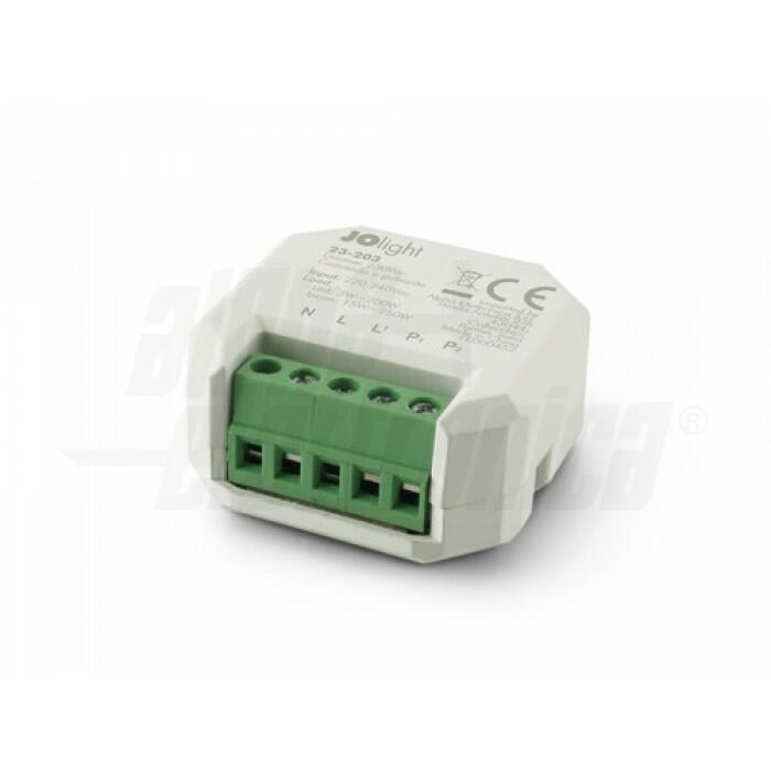 23-203/1 Dimmer 230Vac per lampade LED dimmerabili - Controllo con pulsante - Mantiene memoria