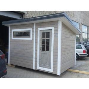 Office Shop 30 Coibentata in legno di pino nordico 3,40 x 2,30 - 142mm - 2 vani