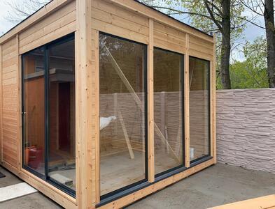 Office Shop 40 Coibentata in legno di pino nordico 3,50 x 3,50 - 145mm