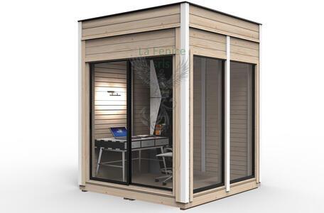 Office Shop 25 Coibentata in legno di pino nordico 2,50 x 2,50 - 145mm