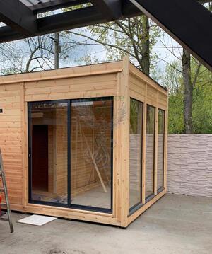 Office Shop 23 Coibentata in legno di pino nordico 3,50 x 2,50 - 145mm