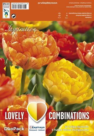 Bulbi Autunnali di Tulipano Combi Double Orange & Yellow confezione da 15 pz KAPITEYN