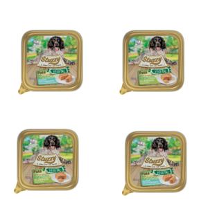 24 Vaschette Da 100g Stuzzy Vegetal Pate Cibo umido Per Cani Cotto Al Vapore