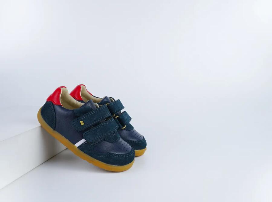 Bobux - Step Up - Riley - Navy + Red