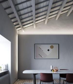 Lampada a Parete/Soffitto Metro di Fabbian con Struttura in Acciaio Inox, Varie Misure - Offerta di Mondo Luce 24