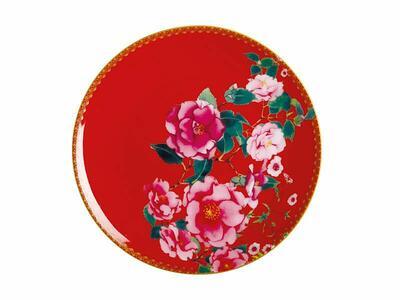 Teas & C's Silk Road Piattino dolce 19,5 cm Cherry Red Gift Boxed