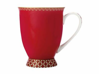 Tazza con piede classico  di Teas & C 300ML Cherry Red Gift Boxed