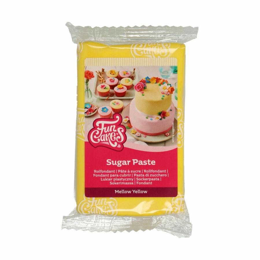 Pasta di zucchero FunCakes gialla 250 gr