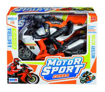MOTOR SPORT CORSA MOTO A BATTERIA MISTERY ACTION RONCHI SUPERTOYS