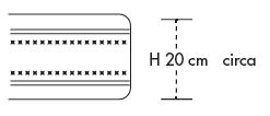 Materasso Water Foam Mod. Astro New da Cm. 120x190/195/200 Poliuretano Espanso Altezza Cm. 20 - Ergorelax