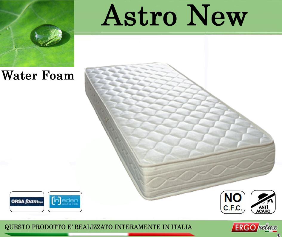 Materasso Water Foam Mod. Astro New da Cm. 85x190/195/200 Poliuretano Espanso Altezza Cm. 20 - Ergorelax