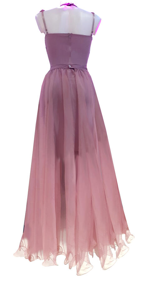0745 2 IN 1 TUBE DRESS WITH SEPARATE TULLE SKIRT