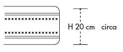 Materasso Water Foam Mod. Astro New Singolo da Cm. 80x190/195/200 Poliuretano Espanso Altezza Cm. 20 - Ergorelax