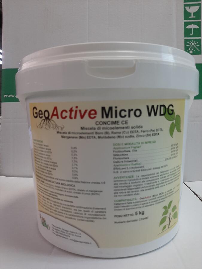 GeoActive Micro WDG - Miscela di microelementi chelati EDTA secchiello 5 kg CONSENTITO IN AGRICOLTURA BIOLOGICA