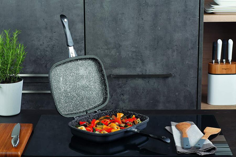 Fornetto padella doppia TOGNANA SPHERA per cucina ad induzione dimensioni 30x22 cm serie SPHERA
