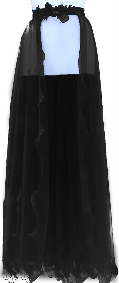 0747 2 IN 1 TUBE DRESS WITH SEPARATE TULLE SKIRT