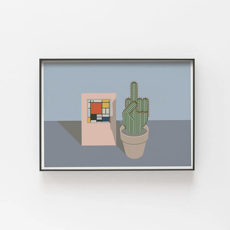 Mondrian con cactus