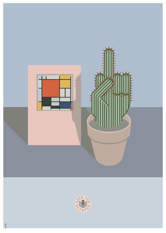 Cactus in Mondrian