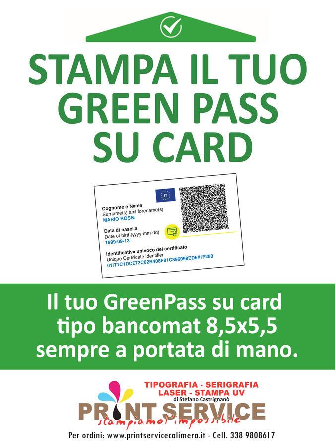 GREENPASS CARD 8,5x5x5