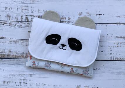 Porta bavaglino-portatutto-pochette a forma di animale