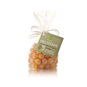 Le querce - Deliziami - Caramelle Miele, Zenzero e Limone bio
