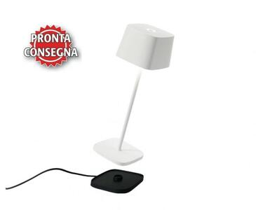 Lampada Ricaricabile da Tavolo OFELIA PRO Colore Bianco di Zafferano in Pronta Consegna - Offerta di Mondo Luce 24