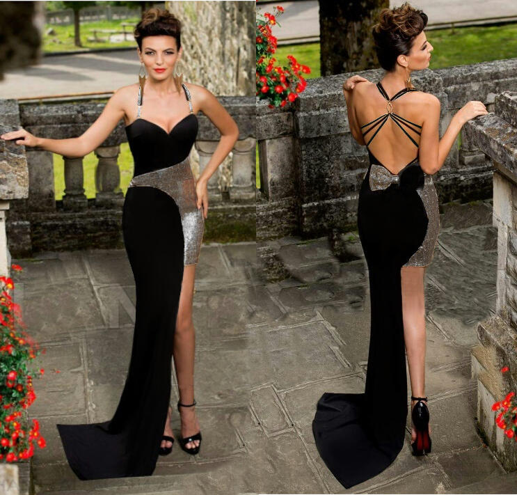 0749 SHORT LONG ASYMMETRIC DRESS WITH NECKLACE BACK AND COLORED LUMIX