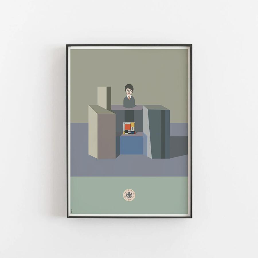 Potter, Mondrian in Morandi