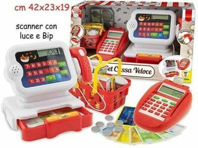 Set Cassa Veloce con Bancomat e scanner barcode - Grande Chef 66503 - 3+