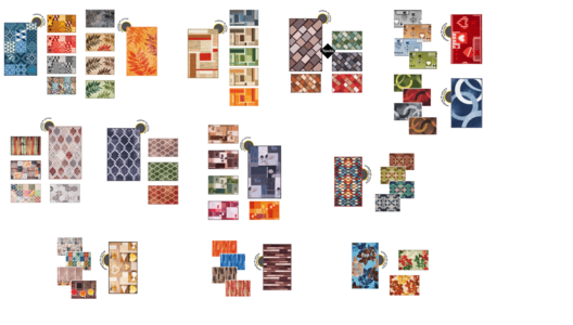 Tappeto Cucina mod. Fakiro 50x80 Fantasie Assortite EMMEVI