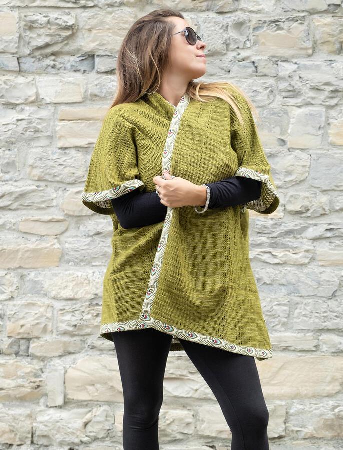 Cardigan lungo donna Komal - Verde Lime