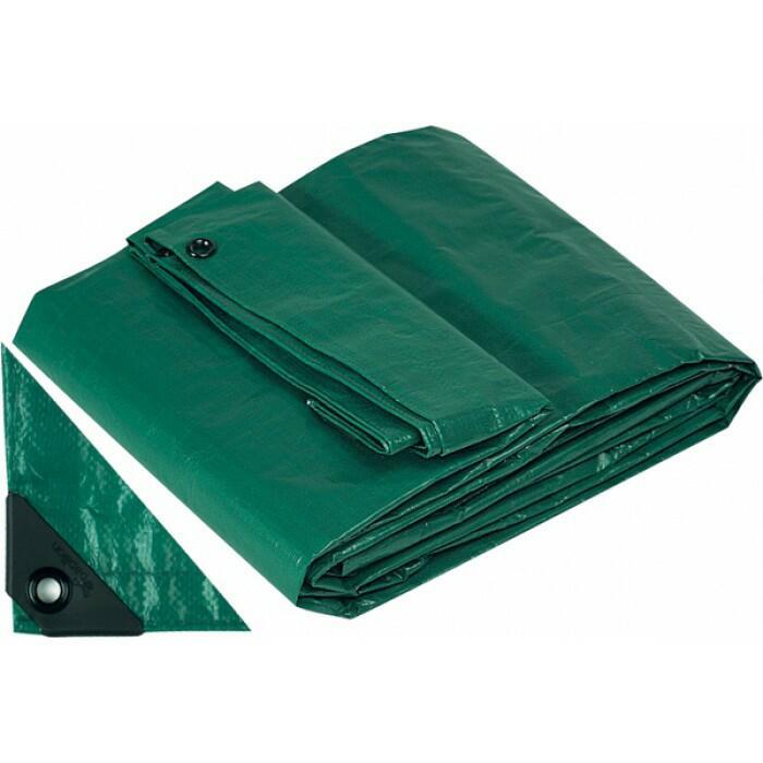 Telo Telone Occhiellato 10 x 6 mt Antistrappo Impermeabile colore Verde Papillon 200 gr / MQ Copripiscina invernale