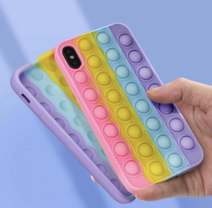 Cover Custodia per Apple IPhone X/XS Pop It fidget Bubble Gioco