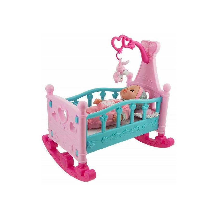 Bambolotto con culla e accessori - Baby Teo 66039 - 3+