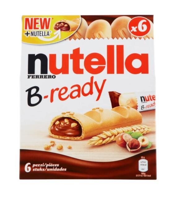 Nutella B-ready T6 - confezione da 6 pezzi