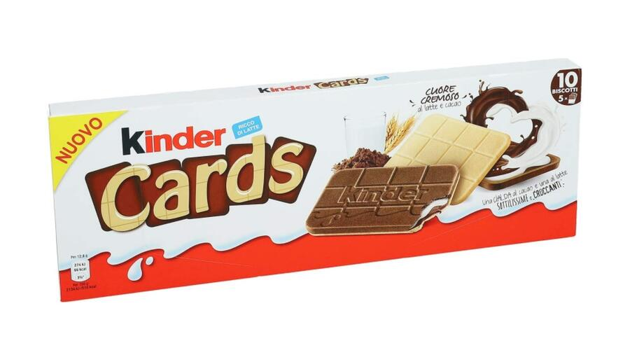 Kinder Cards Biscotto Ripieno al Latte e Cacao, 128g