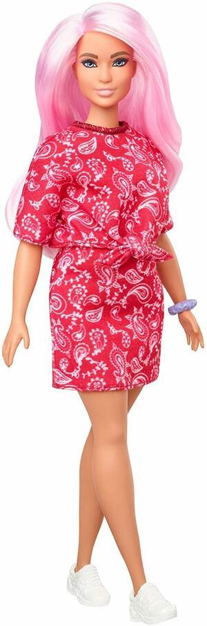 Barbie Fashionistas con Capelli Rosa - Mattel GHW65 - 3+