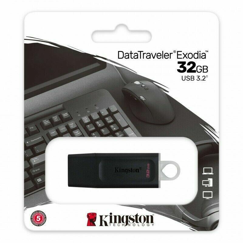 CHIAVETTA USB 3.2 32 GB DATATRAVELER EXODIA KINGSTON
